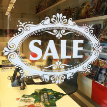 "Window cling poster ""-SALE"" L70 H50 cm"