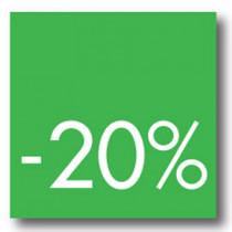 Cartel -20 %, 40 x 40 cm