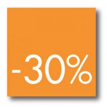 Cartel -30 %, 40 x 40 cm