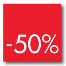Cartel -50 %, 40 x 40 cm