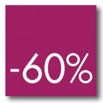 Cartel -60 %, 40 x 40 cm