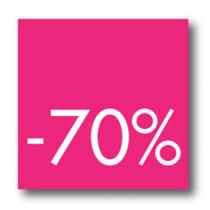 Cartel -70 %, 40 x 40 cm