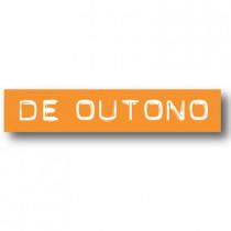 Cartel DE OUTONO, 70 x 14 cm