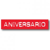 Cartel ANIVERSARIO, 70 x 14 cm