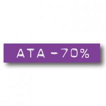 Cartel ATA -70%, 70 x 14 cm