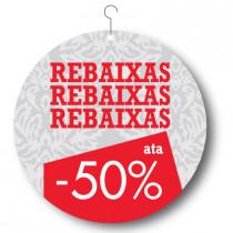 Cartel REBAIXAS, 48 x 48 cm