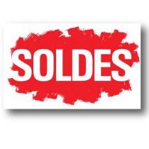 """Affiche """"SOLDES"""" L80 H50 cm"""