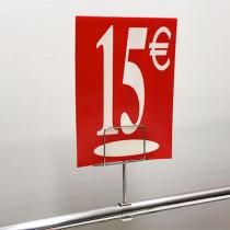 "Panneau polypro ""15€"" L17,5 H24,5 cm"