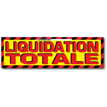 "Sticker adhésif ""Liquidation totale"" L200 H60 cm"
