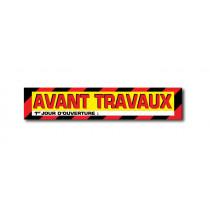 """Sticker adhésif """"AVANT TRAVAUX"""" L100 H20 cm"""