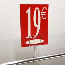 "Panneau polypro ""19€"" L17,5 H24,5 cm"