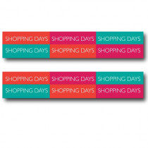 2 affiches  SHOPPING DAYS  L70 H13cm