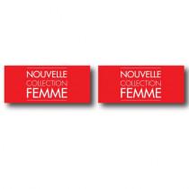 2 affiches  NOUVELLE COLLECTION FEMME  L30 H13cm