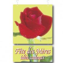 """2 cartons """"Fête des Mères - Idées cadeaux"""" L34 H52 cm"""