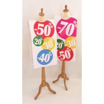 """Affiche mannequin """"%"""" L40 H168 cm"""