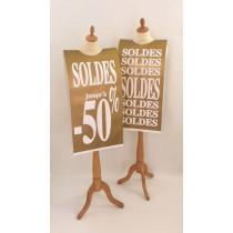 """Affiche mannequin  """"SOLDES jusqu'à -50%"""" L40 H168 cm"""
