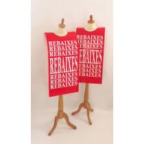 """Affiche mannequin  """"REBAIXES..."""" L40 H168 cm"""