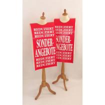 """Affiche mannequin  """"SONDER ANGEBOTE..."""" L40 H168 cm"""