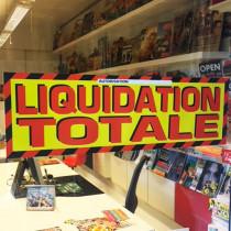 """Affiche """"LIQUIDATION TOTALE"""" L95 H30 cm"""