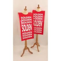 """Affiche mannequin  """"SOLDEN..."""" L40 H168 cm"""