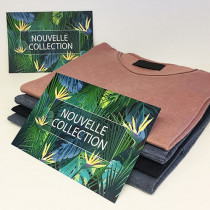 "5 cartons ""NOUVELLE COLLECTION""  L210 H145mm"