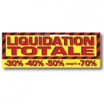 """Affiche """"LIQUIDATION TOTALE"""" XXL L280 H102 cm"""