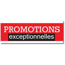 """Affiche PROMOTIONS EXCEPTIONNELLES"""" XXL L280 H102 cm"""