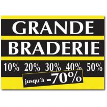 "Affiche ""GRANDE BRADERIE"" XXL L140 H100 cm"
