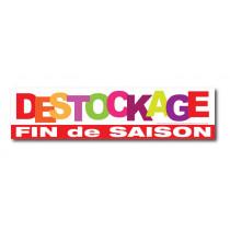 """Sticker adhésif """"DESTOCKAGE FIN DE SAISON"""" L100 H25 cm"""