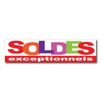 """Sticker adhésif """"SOLDES EXCEPTIONNELS """" L100 H25"""