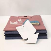 """Paquet de 20 étiquettes carton pelliculé """"Flèche"""" L80 H120 mm"""