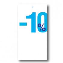 """Paquet de 100 étiquettes carton """"-10%"""" L50 H95 mm"""