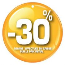 """Paquet de 100 étiquettes carton """"-30%"""" L50 H50 mm"""
