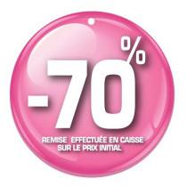 """Paquet de 100 étiquettes carton """"-70%"""" L50 H50 mm"""