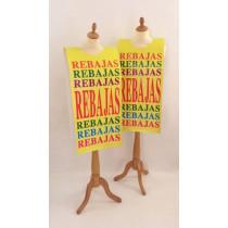 "Affiche mannequin  ""REBAJAS..."" L40 H168 cm"