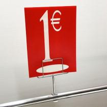 "Panneau polypro ""1€"" L17,5 H24,5 cm"