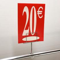 "Panneau polypro ""20€"" L17,5 H24,5 cm"