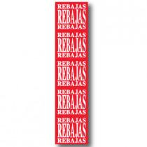 Cartel REBAJAS, 40 x 168 cm