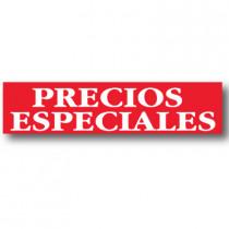 Cartel PRECIOS ESPECIALES, 82 x 20 cm