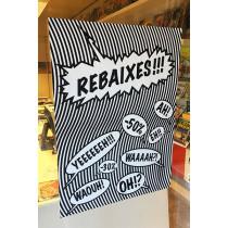 Cartel REBAIXES, L60 H80 cm