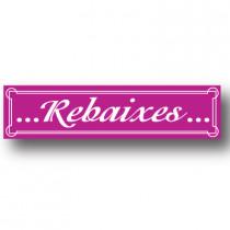 Cartel REBAIXES, 82 x 20 cm