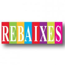 Cartel REBAIXES, 82 x 30 cm