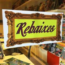 Cartel REBAIXES, 58 x 29 cm