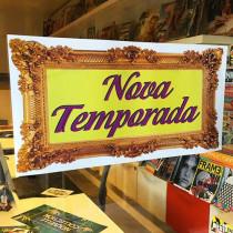 Cartel NOVO TEMPORADA, 58 x 29 cm