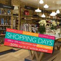 Affiche  SHOPPING DAYS  L100 H35 cm