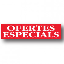 Cartel OFERTES ESPECIALS, 86 x 20 cm