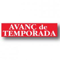 Cartel FI AVANC de TEMPORADA, 86 x 20 cm