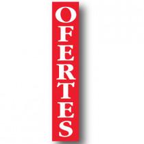 Cartel OFERTES, 30 x 168 cm