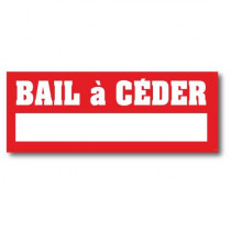 Sticker adhésif  ''BAIL A CEDER'' L80 H30 cm