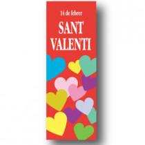 Cartel SANT VALENTI, 30 x 86 cm
